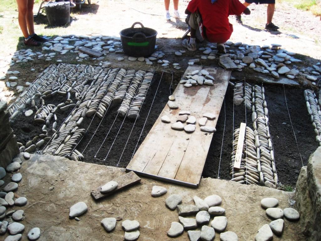 Realizacion de suelos de canto rodado